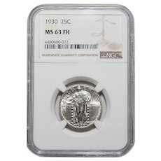 1930 Ngc MS63FH Standing Liberty Quarter
