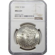 1902-S Ngc MS63+ Morgan Dollar