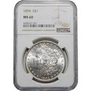 1894 Ngc MS60 Morgan Dollar