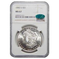 1880-S Ngc/Cac MS67 Morgan Dollar
