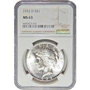 1922-D Ngc MS63 Morgan Dollar