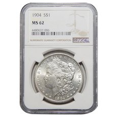1904 Ngc MS62 Morgan Dollar