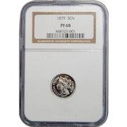 1879 Ngc PF68 Three-Cent Copper Nickel