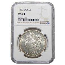 1889-CC Ngc MS63 Morgan Dollar