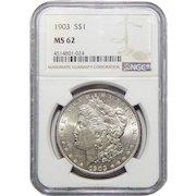 1903 Ngc MS62 Morgan Dollar