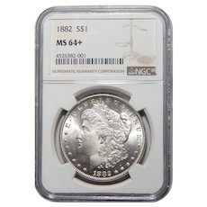 1882 Ngc MS64+ Morgan Dollar