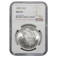 1885-O Ngc MS65+ Morgan Dollar