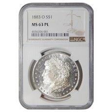 1883-O Ngc MS63PL Morgan Dollar
