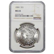 1884 Ngc MS65 Morgan Dollar