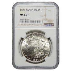 1921 Ngc MS65+ Morgan Dollar
