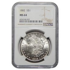 1882 Ngc MS64 Morgan Dollar