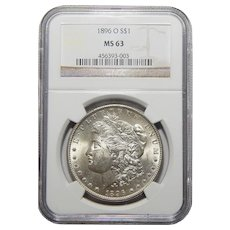 1896-O Ngc MS63 Morgan Dollar