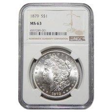 1879 Ngc MS63 Morgan Dollar