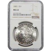 1883 Ngc MS64 Morgan Dollar