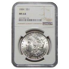 1884 Ngc MS64 Morgan Dollar