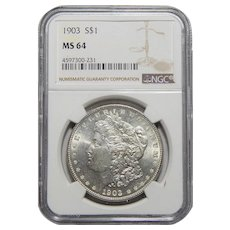 1903 Ngc MS64 Morgan Dollar