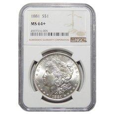 1881 Ngc MS64+ Morgan Dollar