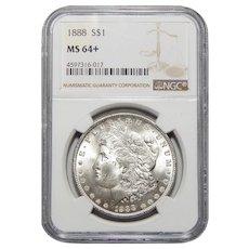 1888 Ngc MS64+ Morgan Dollar