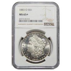1883-O Ngc MS65+ Morgan Dollar