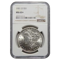 1901-O Ngc MS65+ Morgan Dollar