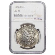 1896-O Ngc AU58 Morgan Dollar
