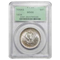 1934 Pcgs MS66 Texas Half Dollar