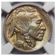1919-D Ngc MS64+ Buffalo Nickel