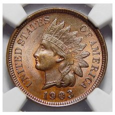 1903 Ngc MS64RB Indian Head Cent