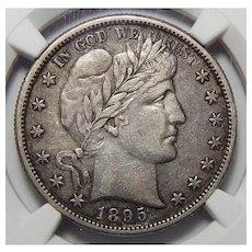 1895-S Ngc XF45 Barber Half Dollar