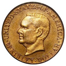 1917 Pcgs MS64 $1 McKinley Gold