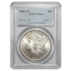 1882-CC Pcgs MS64 Morgan Dollar