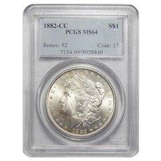 1882-CC Pcgs MS64 Morgan Dollar