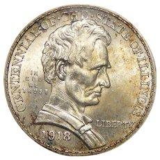 1918 Ngc MS66 Lincoln Half Dollar