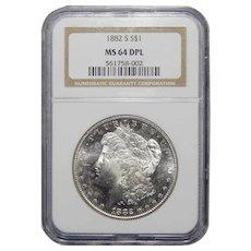 1882-S Ngc MS64DPL Morgan Dollar