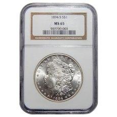 1894-S Ngc MS65 Morgan Dollar