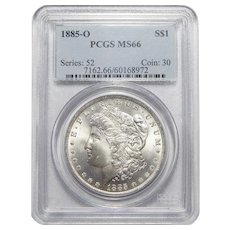 1885-O Pcgs MS66 Morgan Dollar