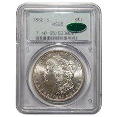 1882-S Pcgs/Cac MS65 Morgan Dollar
