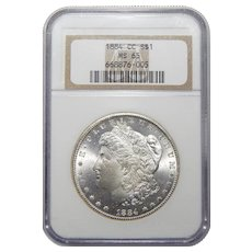 1884-CC Ngc MS65 Morgan Dollar