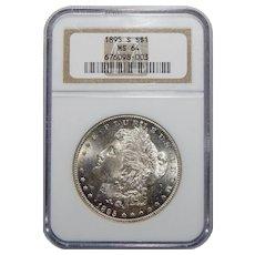 1895-S Ngc MS64 Morgan Dollar