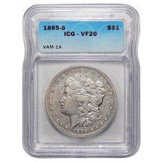 1895-S Icg VF20 Vam-1A Morgan Dollar