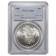 1880 Pcgs MS66 Morgan Dollar