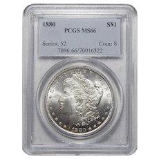 1880 Pcgs MS66 Morgan Dollar