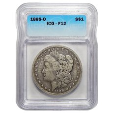 1895-O Icg F12 Morgan Dollar