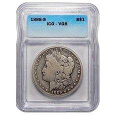 1888-S Icg VG8 Morgan Dollar