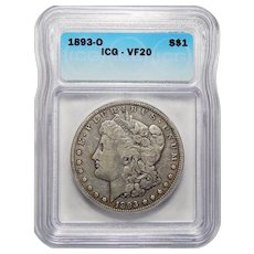 1893-O Icg VF20 Morgan Dollar