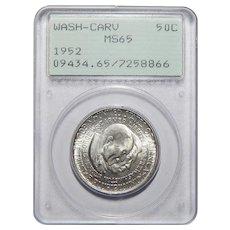 1952 Pcgs Rattler MS65 Washington-Carver Half Dollar Commemorative