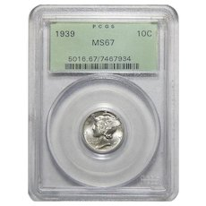 1939 Pcgs MS67 Mercury Dime