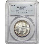 1947-S Pcgs MS65 Booker T. Washington Half Dollar