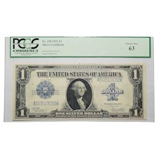 1923 Pcgs 63 $1 Silver Certificate Fr. 238
