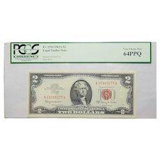 1963A Pcgs 64PPQ $2 Legal Tender Note Fr. 1514